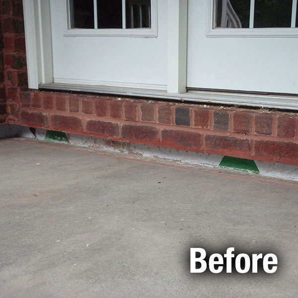 Toledo Concrete Porch Leveling - Before