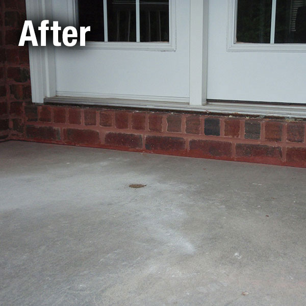 Toledo Concrete Porch Leveling - After